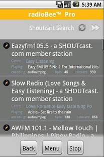 radioBee Pro - radio app - screenshot thumbnail