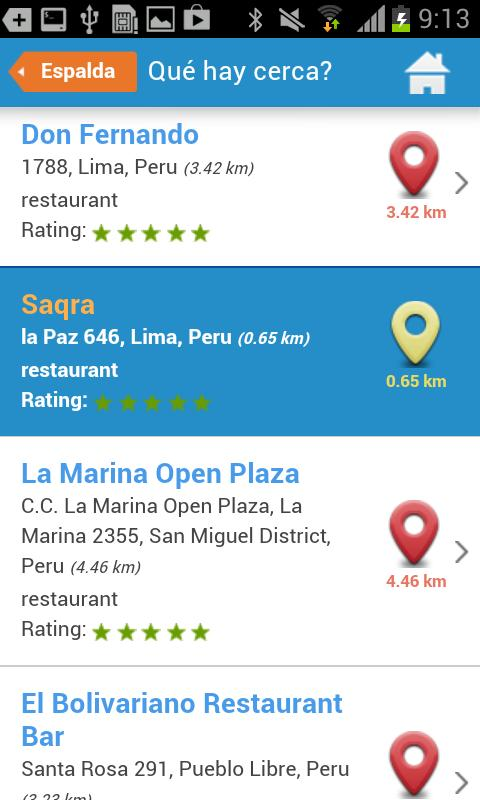 Lima Tourist Guide Map Hotels - screenshot