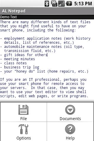 AmbleLink Notepad Basic Ed. - screenshot