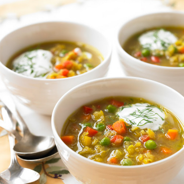 Curried Yellow Split- Pea Soup