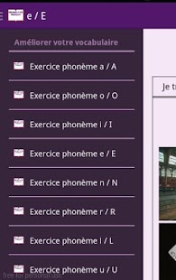 Exercices vocabulaire français – Vignette de la capture d'écran