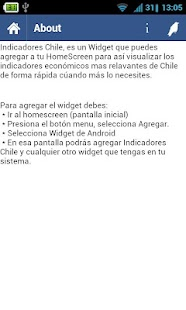 Indicadores Chile - screenshot thumbnail