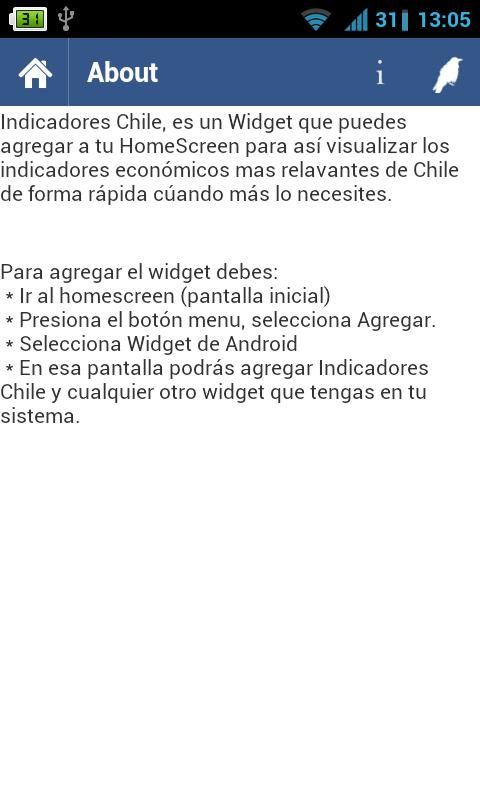 Indicadores Chile - screenshot