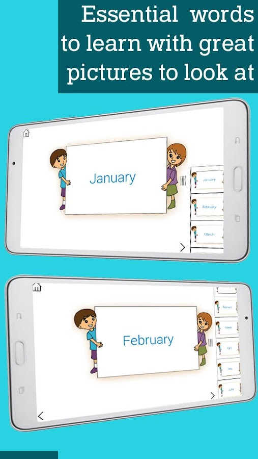 Learn Numbers Time Days Months- screenshot