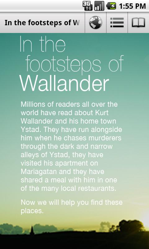 In the footsteps of Wallander– skärmdump
