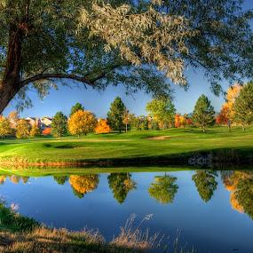 Indian Peaks Golf Course by Richard Saxon - Landscapes Sunsets & Sunrises ( indian peaks, 2012 calendar, 2012 show, october 20, colorado, lafayette, 2011, mikes contest 2011, landscapes, fall 2011 )