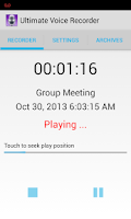 Screenshot of Ultimate Voice Recorder