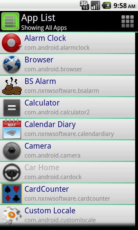 App List- screenshot