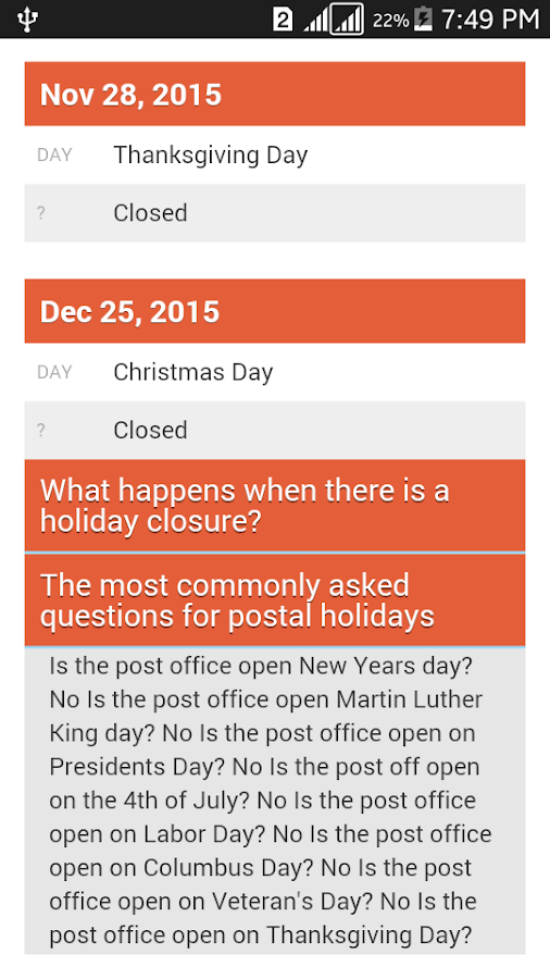 post office closed on martin luther king day