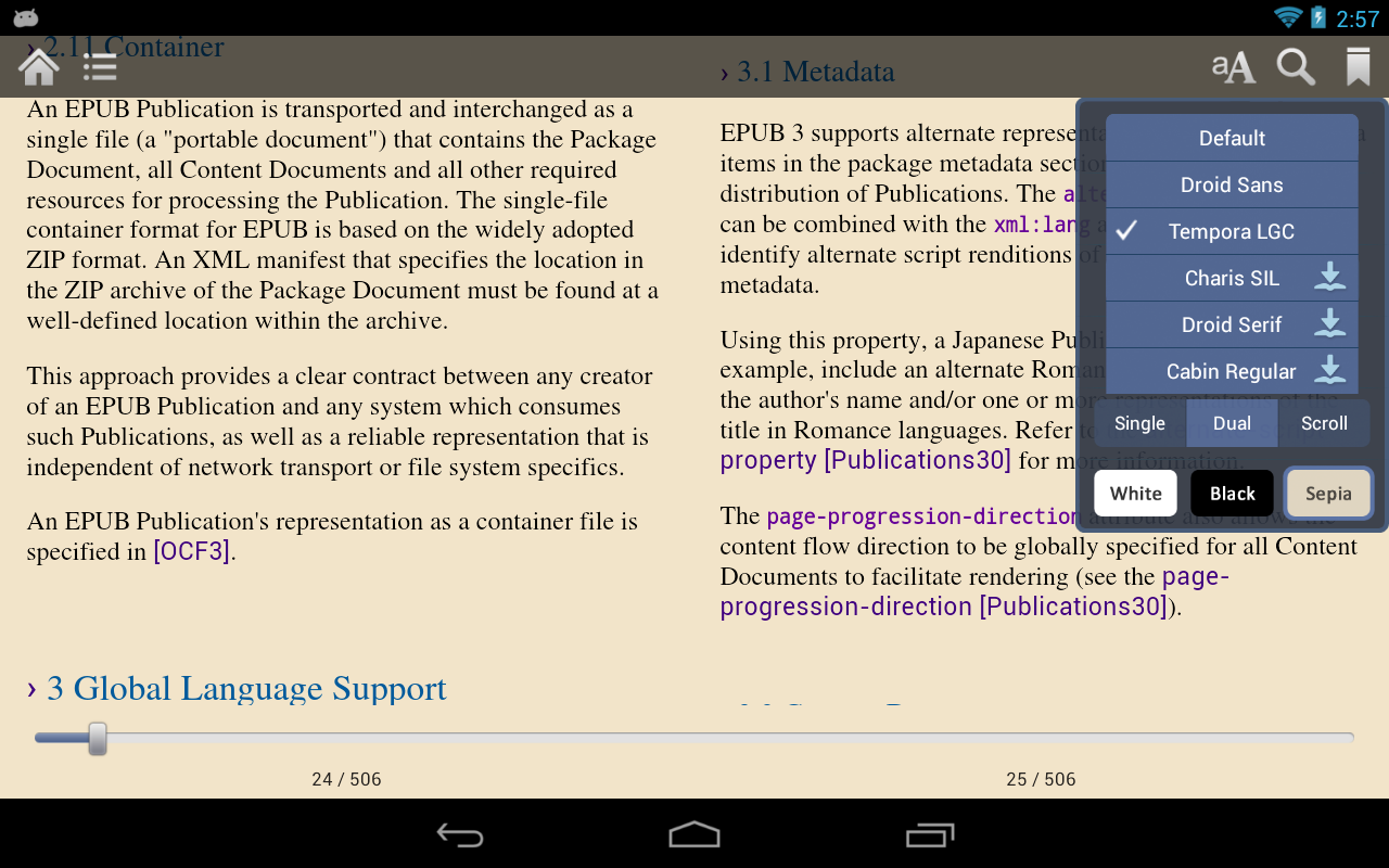 Gitden Reader: EPUB3 & EPUB2- screenshot