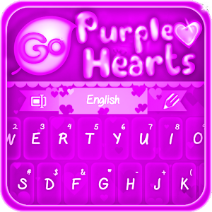 Free Apk android  GO Keyboard Purple Hearts 1.0  free updated on