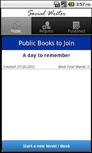 Write books with your friends - screenshot thumbnail