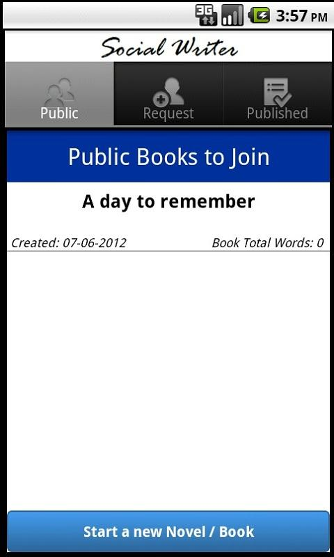 Write books with your friends - screenshot
