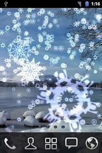 Snowing Snowflakes Wallpaper- screenshot thumbnail