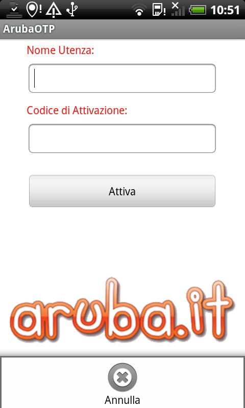 Aruba Mobile OTP - screenshot