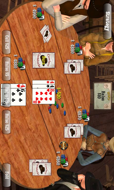 Cowboy Cardsharks Hold'em- screenshot