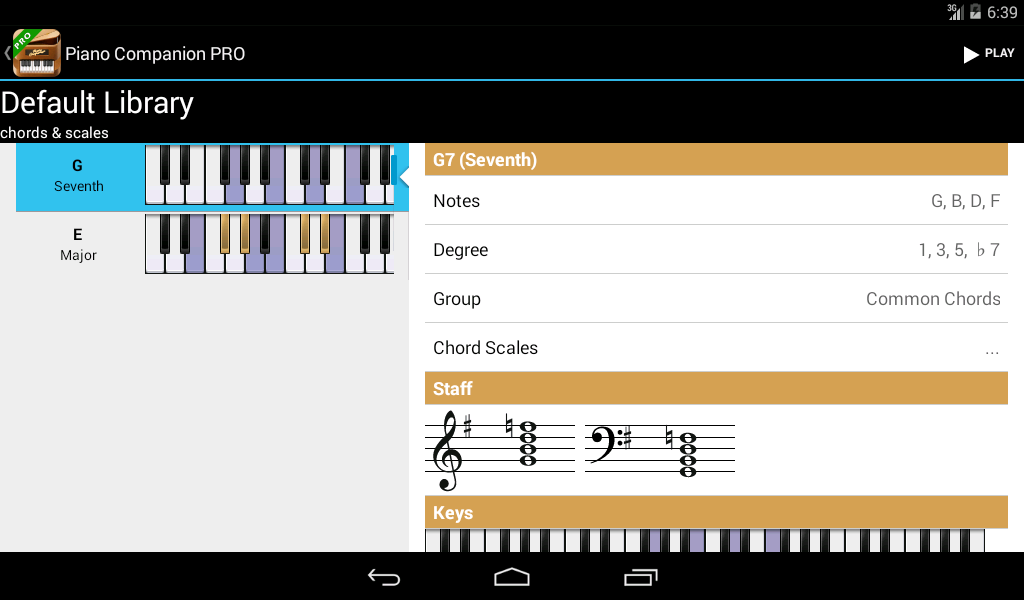 Piano Companion PRO: chords - screenshot