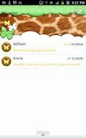 Screenshot of GO SMS/NeonGiraffeButterfly