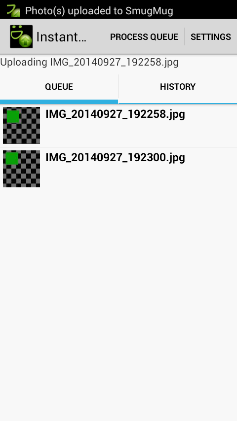 Instant SmugMug Upload- screenshot