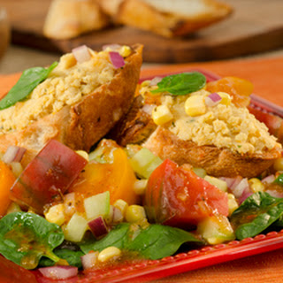 Spinach Salad With Garbanzo Bean Toast.