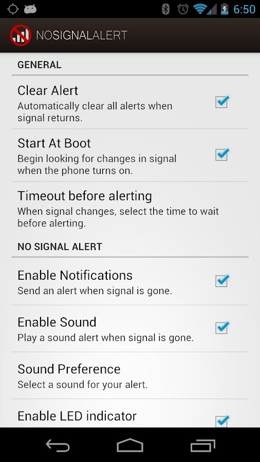 No Signal Alert Pro- screenshot