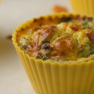 Southwest Style Egg Muffins with Black Beans and Corn.