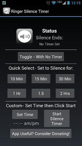 Ringer Silence Timer