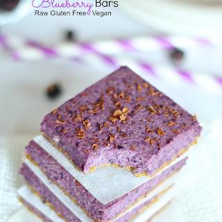 Blueberrry Bars (Raw Vegan Gluten Free)