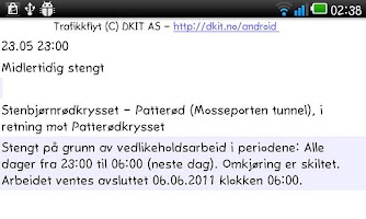 Screenshot of Trafikkflyt