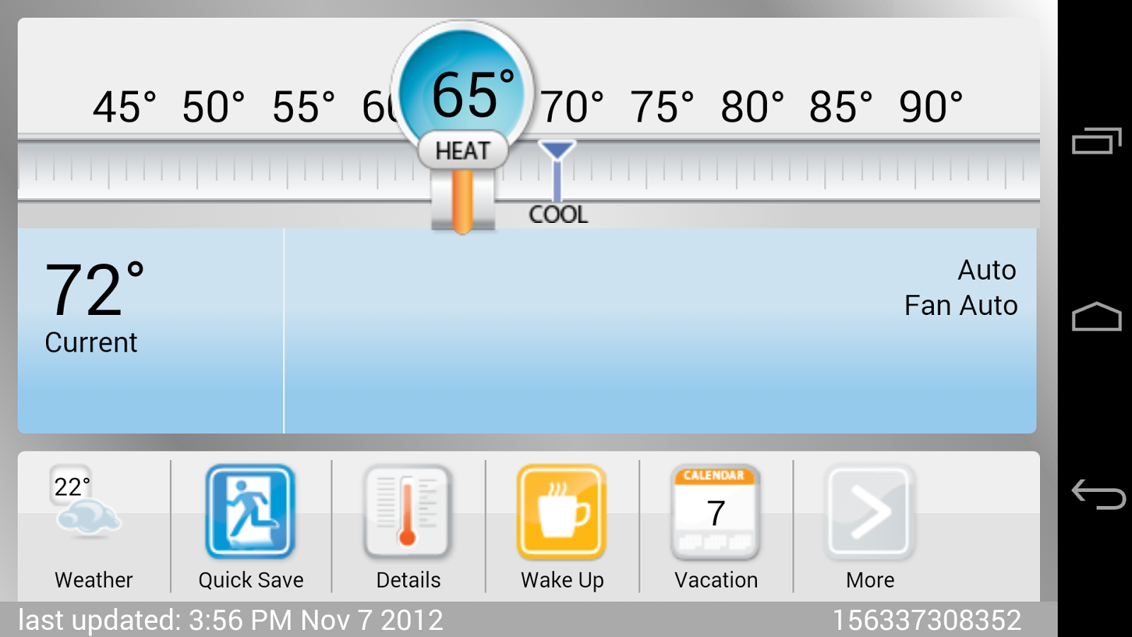 Carrier Wi-Fi Thermostat- screenshot