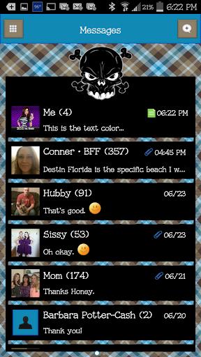 GO SMS - Luv Skulls 10