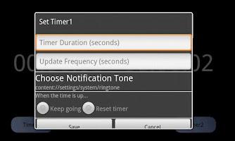 Screenshot of Dual Timer