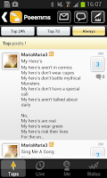 Screenshot of Poems: The community