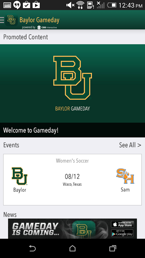Baylor Bears Gameday LIVE - screenshot