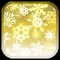 Copo de nieve fondo animado icon