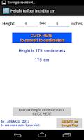 Screenshot of Height Converter feet-inch cm