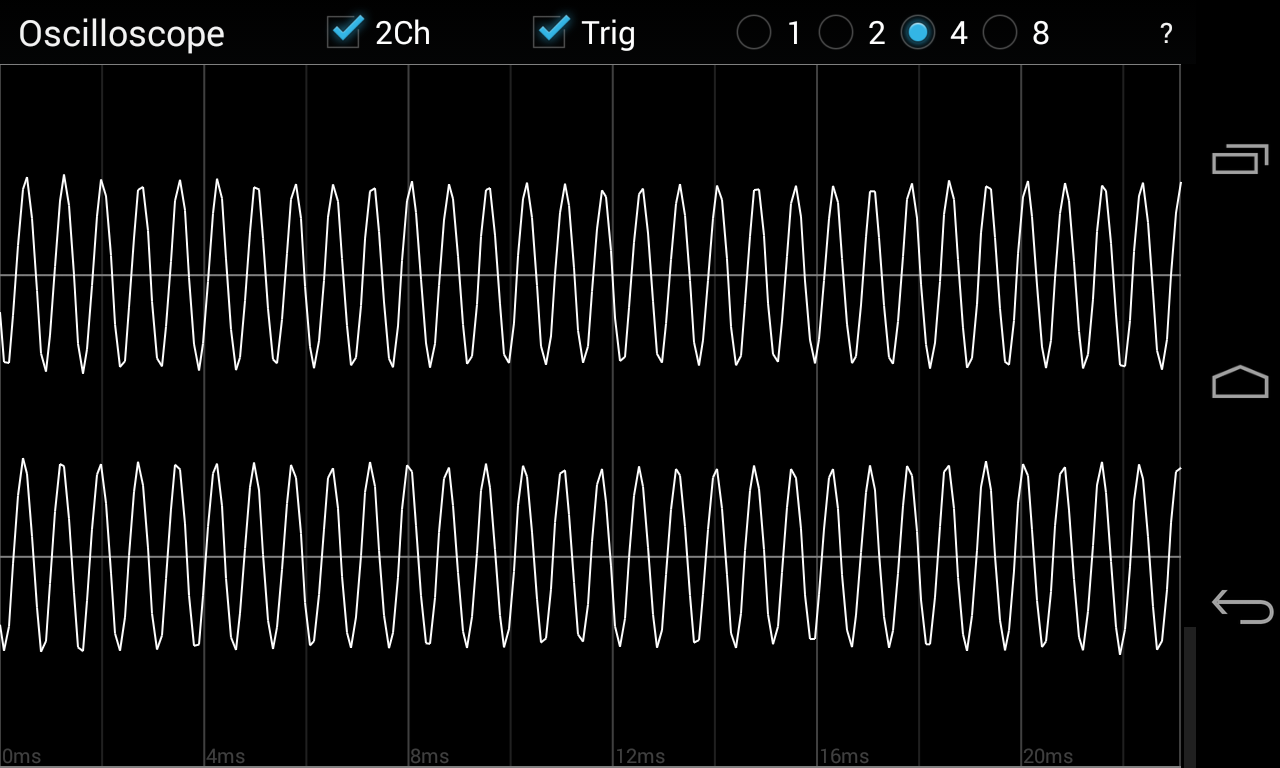Oscilloscope- screenshot