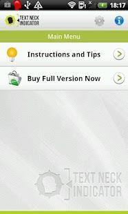Text Neck Indicator LITE- screenshot thumbnail