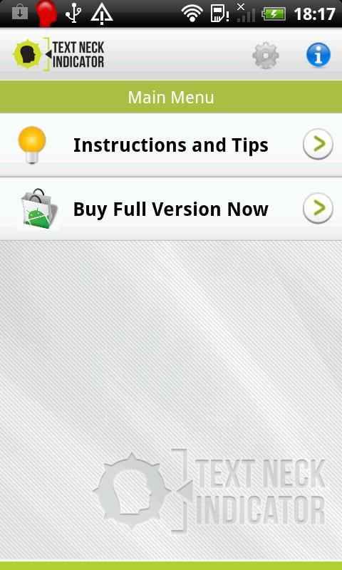 Text Neck Indicator LITE- screenshot