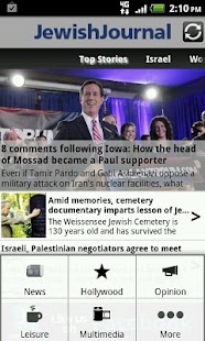 JewishJournal app for Android - screenshot thumbnail