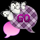 GO SMS THEME|PlumBerrySky