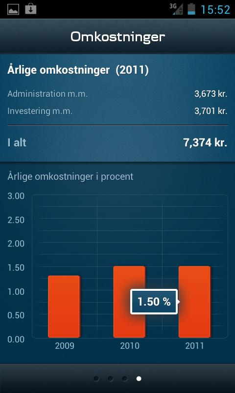 Mobilpension - screenshot