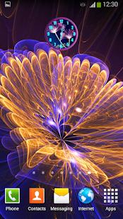 Neonové Květiny Hodiny - náhled