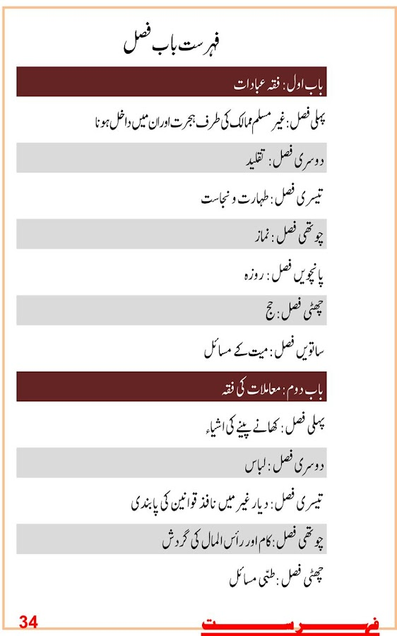 Jadid Fiqhi Masail (for Tab) - screenshot