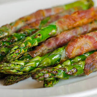 Pancetta Wrapped Asparagus.
