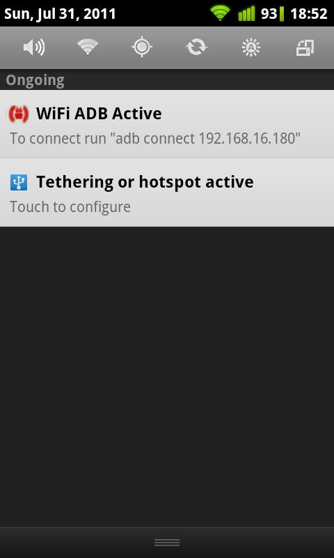 Auto USB Tethering - screenshot