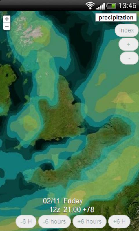 The weather forecast UK meteo- screenshot
