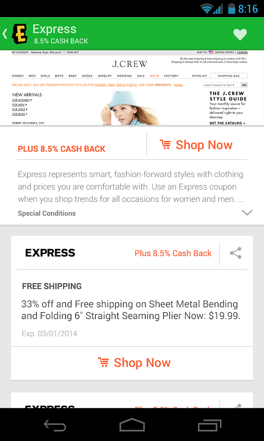 Ebates Cash Back & Coupons - screenshot