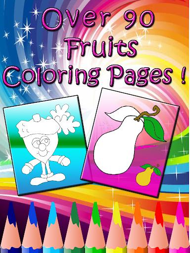 fruit coloring book : kids