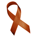 Brown Awareness Ribbon Clock logo